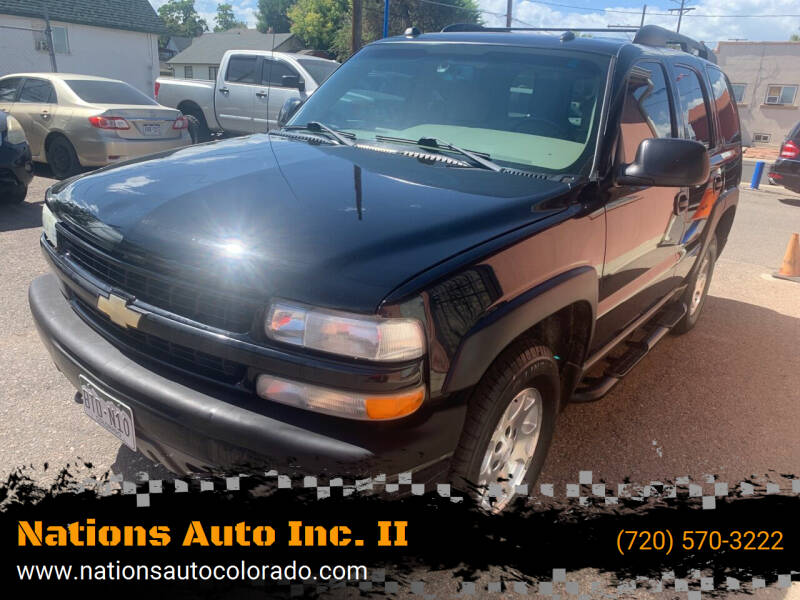 2004 Chevrolet Tahoe for sale at Nations Auto Inc. II in Denver CO