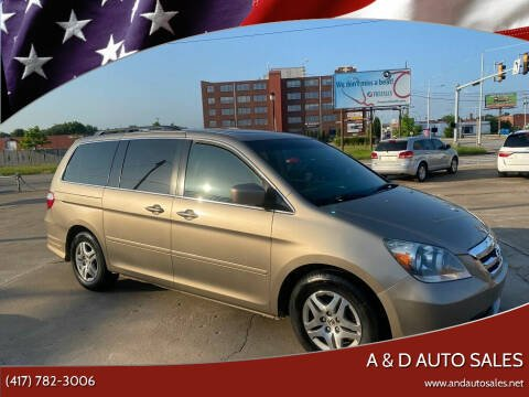 2005 Honda Odyssey for sale at A & D Auto Sales in Joplin MO