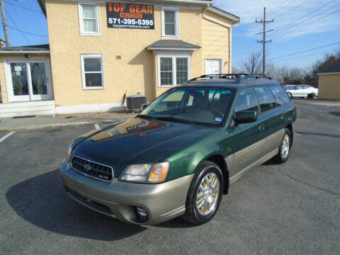 2003 Subaru Outback for sale at Top Gear Motors in Winchester VA