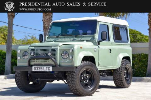 1986 Land Rover Defender for sale at Presidential Auto  Sales & Service in Delray Beach FL