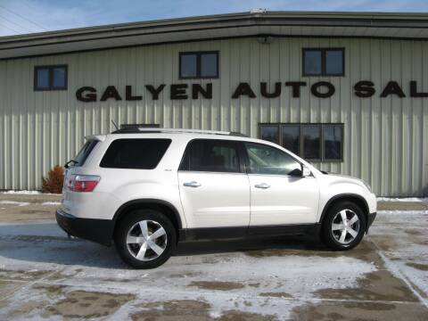 2012 GMC Acadia for sale at Galyen Auto Sales Inc. in Atkinson NE