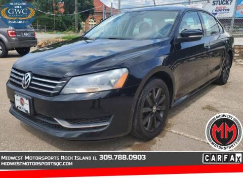 2013 Volkswagen Passat for sale at MIDWEST MOTORSPORTS in Rock Island IL