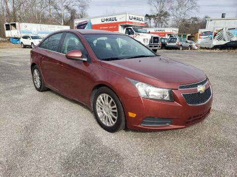 2012 Chevrolet Cruze for sale at Ona Used Auto Sales in Ona WV