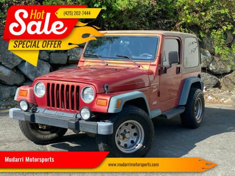 1999 Jeep Wrangler for sale at Mudarri Motorsports in Kirkland WA