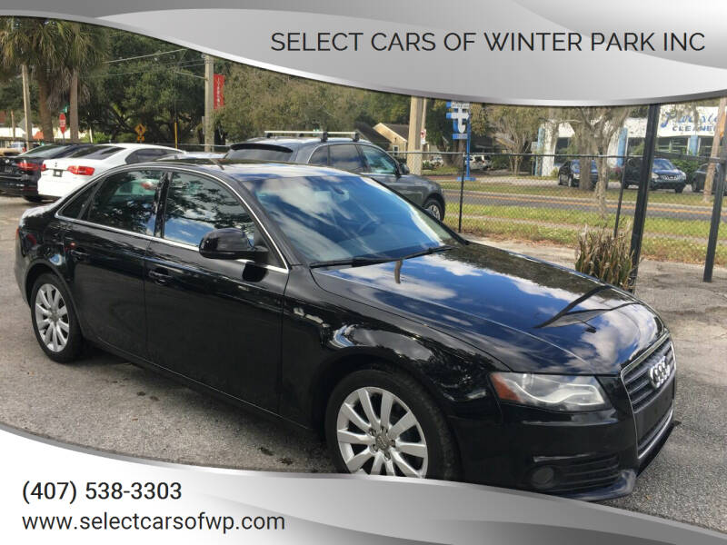 2009 Audi A4 for sale at Select Cars Of Winter Park Inc in Orlando FL