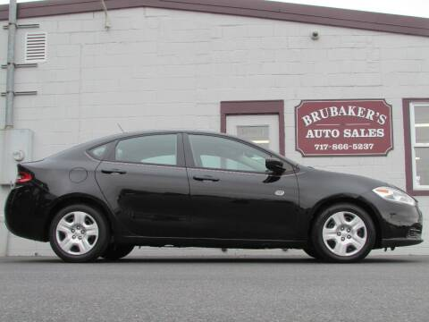 2013 Dodge Dart for sale at Brubakers Auto Sales in Myerstown PA