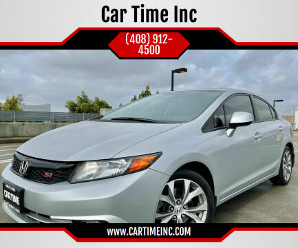 2012 Honda Civic for sale at Car Time Inc in San Jose CA