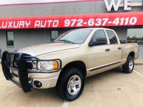 2004 Dodge Ram Pickup 1500 for sale at Texas Luxury Auto in Cedar Hill TX