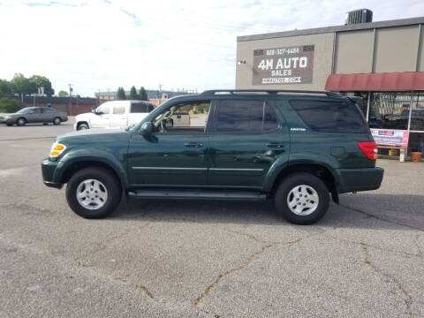 2002 Toyota Sequoia for sale at 4M Auto Sales | 828-327-6688 | 4Mautos.com in Hickory NC