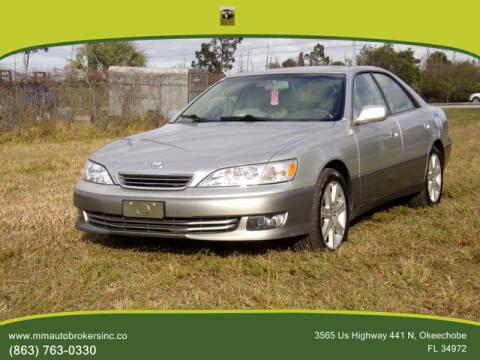 2000 Lexus ES 300 for sale at M & M AUTO BROKERS INC in Okeechobee FL