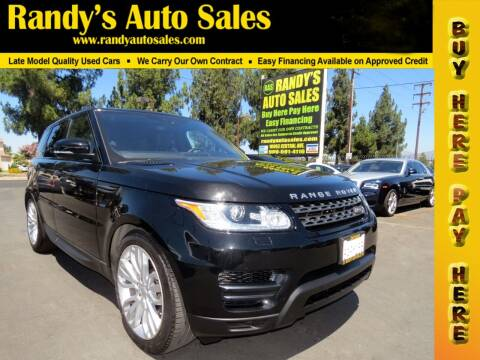 2017 Land Rover Range Rover Sport for sale at Randy's Auto Sales in Ontario CA