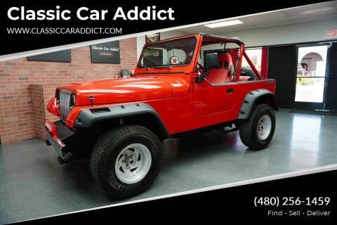 1988 Jeep Wrangler for sale at Classic Car Addict in Mesa AZ