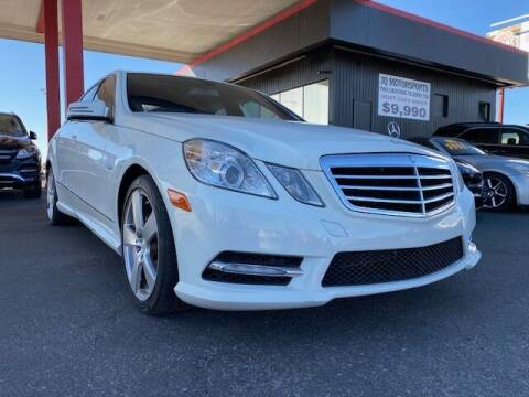 2012 Mercedes-Benz E-Class for sale at JQ Motorsports East in Tucson AZ
