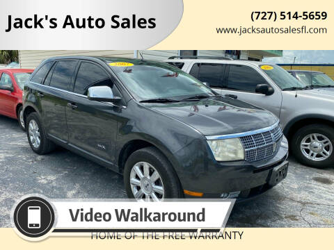 2007 Lincoln MKX for sale at Jack's Auto Sales in Port Richey FL