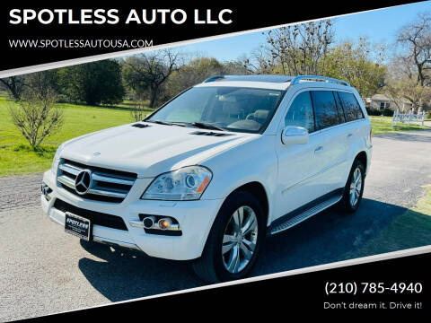 2010 Mercedes-Benz GL-Class for sale at SPOTLESS AUTO LLC in San Antonio TX