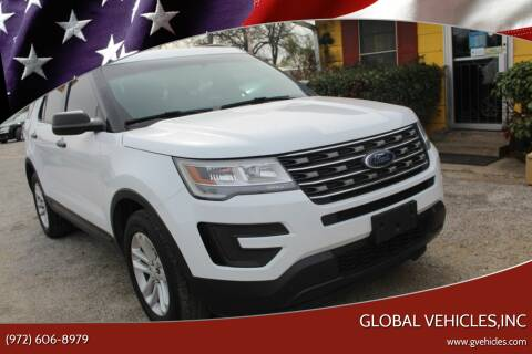 2017 Ford Explorer for sale at Global Vehicles,Inc in Irving TX