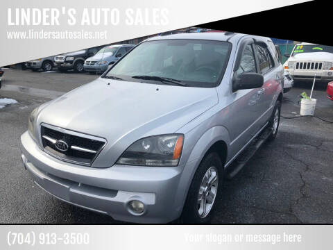 2006 Kia Sorento for sale at LINDER'S AUTO SALES in Gastonia NC