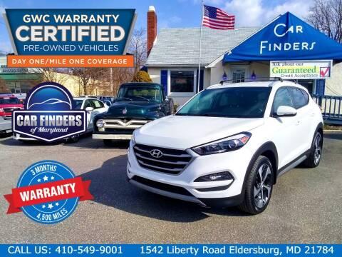 2017 Hyundai Tucson for sale at CAR FINDERS OF MARYLAND LLC - Certified Cars in Eldersburg MD