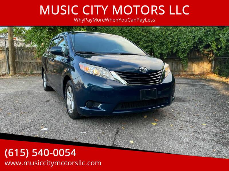 2012 Toyota Sienna for sale at MUSIC CITY MOTORS LLC in Nashville TN
