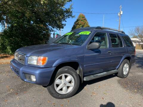 2002 Nissan Pathfinder for sale at Seaport Auto Sales in Wilmington NC