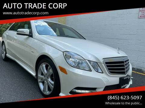 2012 Mercedes-Benz E-Class for sale at AUTO TRADE CORP in Nanuet NY