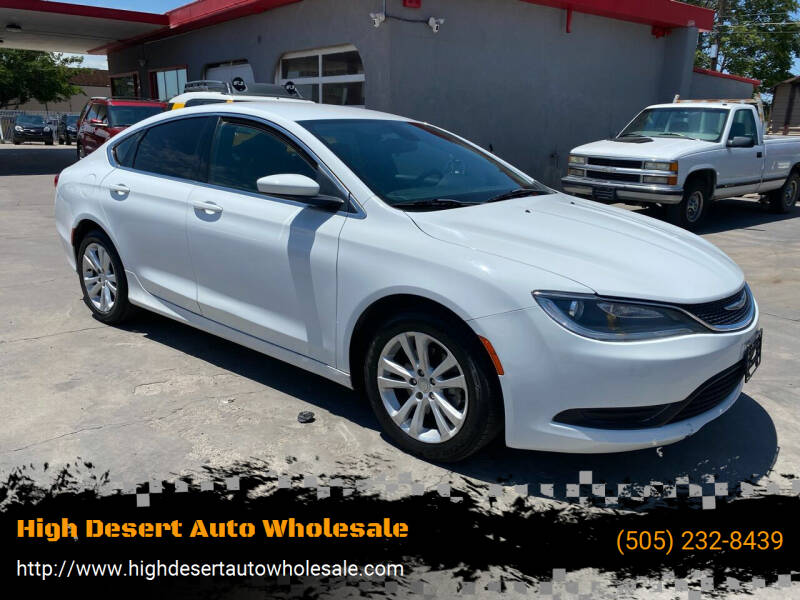 2016 Chrysler 200 for sale at High Desert Auto Wholesale in Albuquerque NM