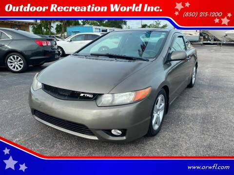 2006 Honda Civic for sale at Outdoor Recreation World Inc. in Panama City FL