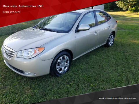 2010 Hyundai Elantra for sale at Riverside Automotive INC in Aberdeen MD