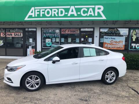 2017 Chevrolet Cruze for sale at Afford-A-Car in Dayton/Newcarlisle/Springfield OH