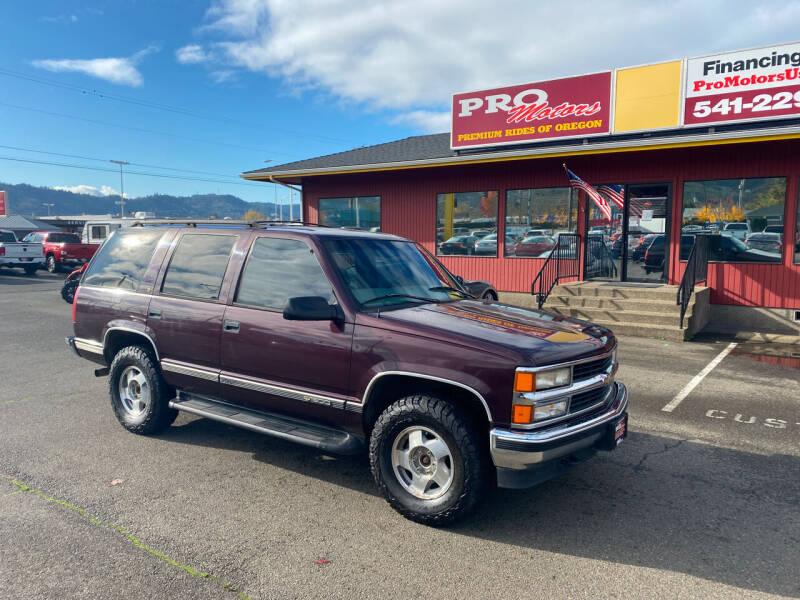 1997 Chevrolet Tahoe for sale at Pro Motors in Roseburg OR