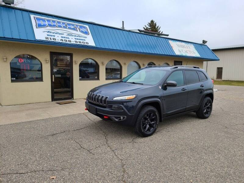 2017 Jeep Cherokee for sale at Dukes Auto Sales in Glyndon MN