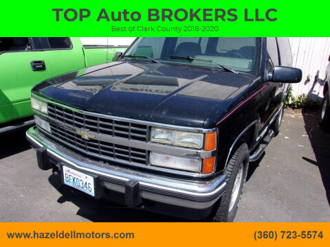 1992 Chevrolet Blazer for sale at TOP Auto BROKERS LLC in Vancouver WA