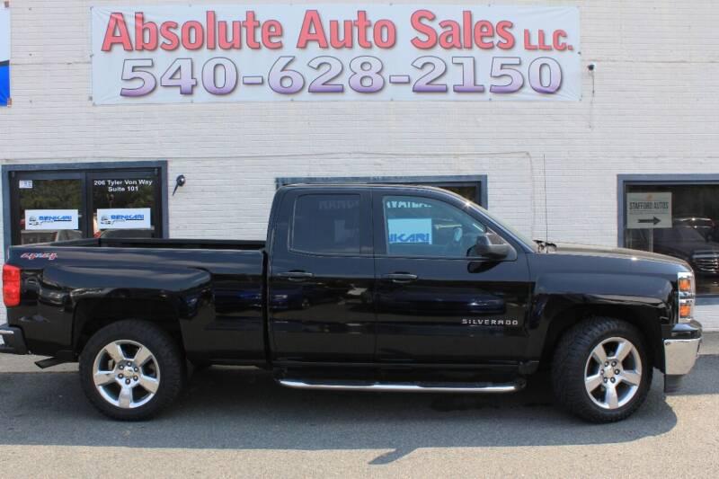 2014 Chevrolet Silverado 1500 for sale at Absolute Auto Sales in Fredericksburg VA