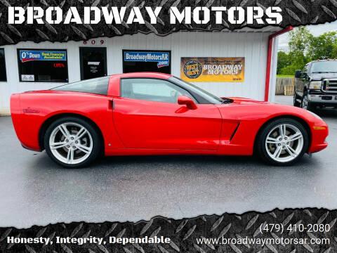 2009 Chevrolet Corvette for sale at BROADWAY MOTORS in Van Buren AR
