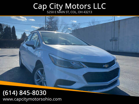 2016 Chevrolet Cruze for sale at Cap City Motors LLC in Columbus OH