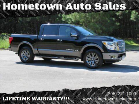 2018 Nissan Titan for sale at Hometown Auto Sales - Trucks in Jasper AL