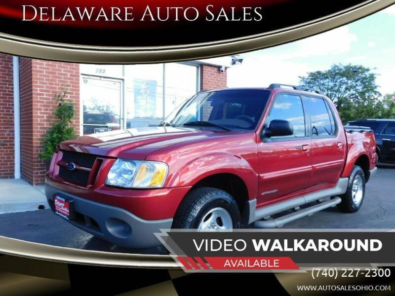 2002 Ford Explorer Sport Trac for sale at Delaware Auto Sales in Delaware OH