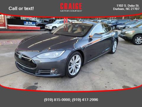 2015 Tesla Model S for sale at CRAIGE MOTOR CO in Durham NC
