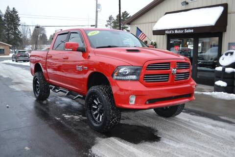 2017 RAM Ram Pickup 1500 for sale at Nick's Motor Sales LLC in Kalkaska MI