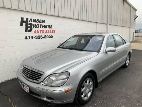 2001 Mercedes-Benz S-Class for sale at HANSEN BROTHERS AUTO SALES in Milwaukee WI