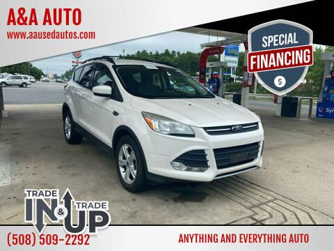 2013 Ford Escape for sale at A&A AUTO in Fairhaven MA