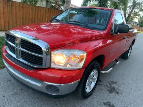 2007 Dodge Ram Pickup 1500 for sale at FINANCIAL CLAIMS & SERVICING INC in Hollywood FL