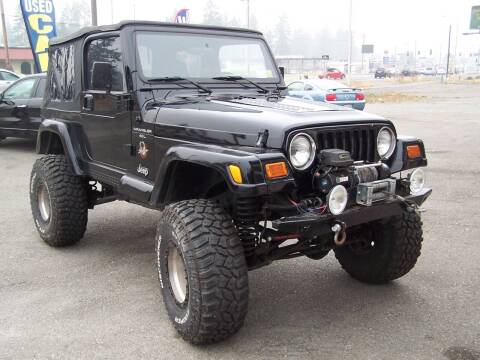 2000 Jeep Wrangler for sale at M & M Auto Sales LLc in Olympia WA