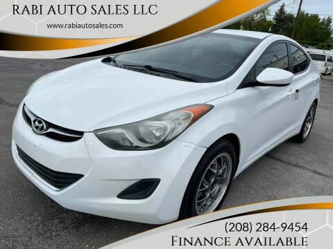 2011 Hyundai Elantra for sale at RABI AUTO SALES LLC in Garden City ID
