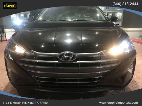 2019 Hyundai Elantra for sale at EMPIREIMPORTSTX.COM in Katy TX