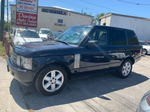 2005 Land Rover Range Rover for sale at DAVINA AUTO SALES in Casselberry FL