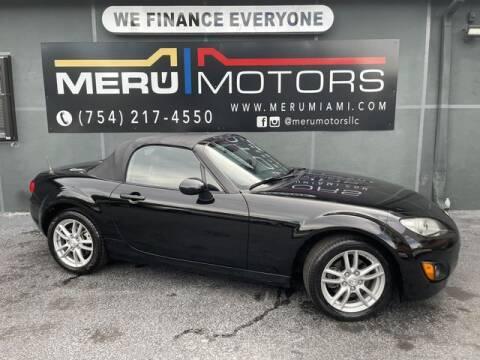 2012 Mazda MX-5 Miata for sale at Meru Motors in Hollywood FL