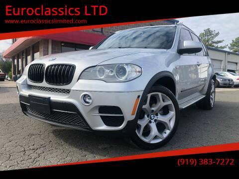 2013 BMW X5 for sale at Euroclassics LTD in Durham NC