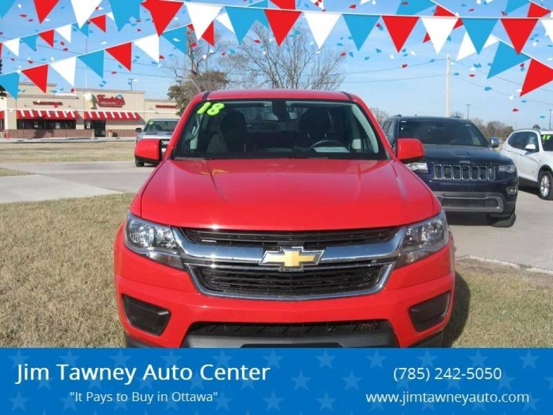 2018 Chevrolet Colorado for sale at Jim Tawney Auto Center Inc in Ottawa KS