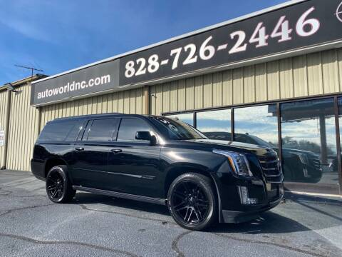 2015 Cadillac Escalade ESV for sale at AutoWorld of Lenoir in Lenoir NC